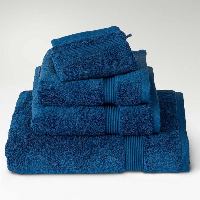 toallas algodón supima azul