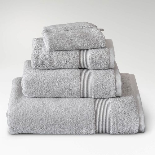 toallas algodón supima gris perla