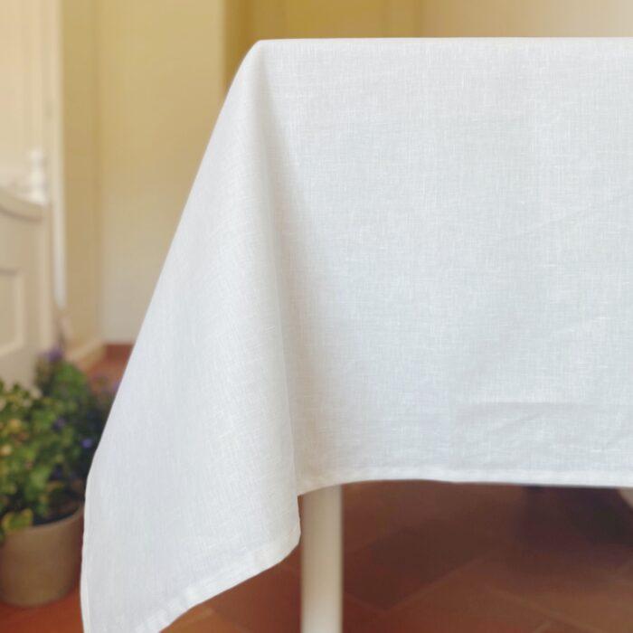 mantel resinado lino blanco