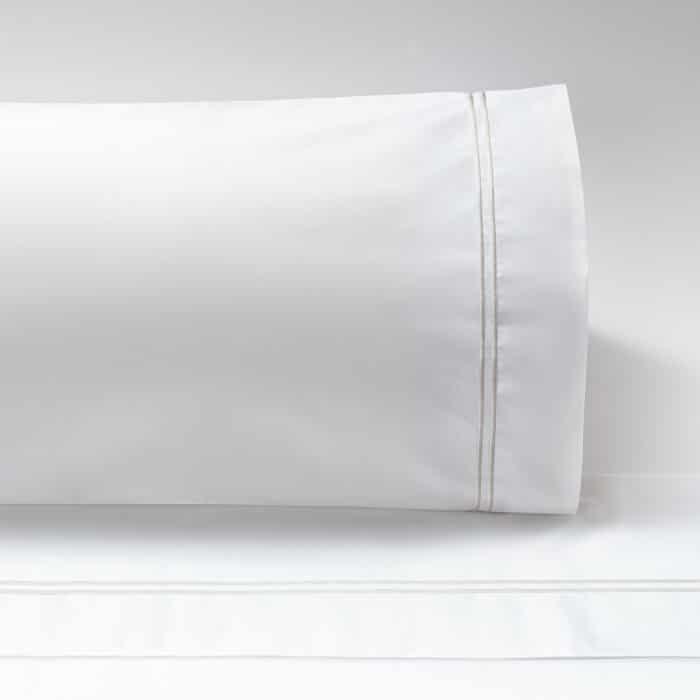 Almohadas Percal 300 dos festones perla