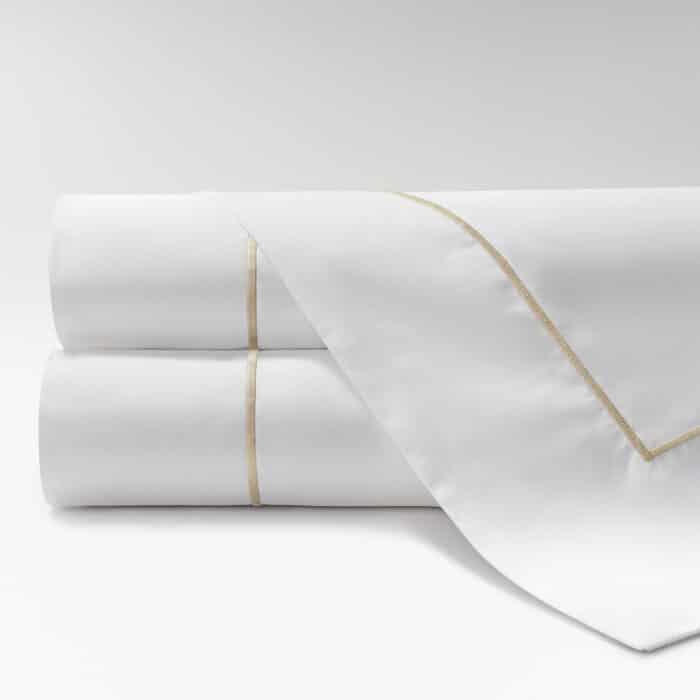 sábanas de Percal 600 feston beige