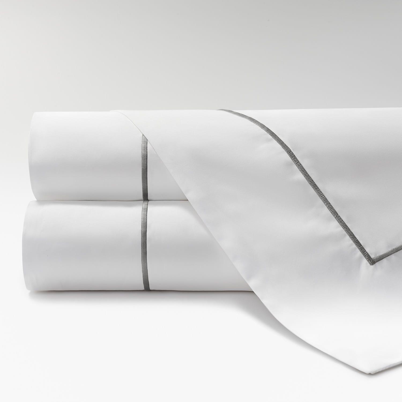 sábanas de Percal 600 feston gris