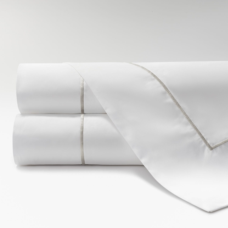 sábanas de Percal 600 feston perla