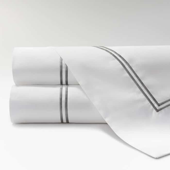sábanas de Percal 600 2 festones gris