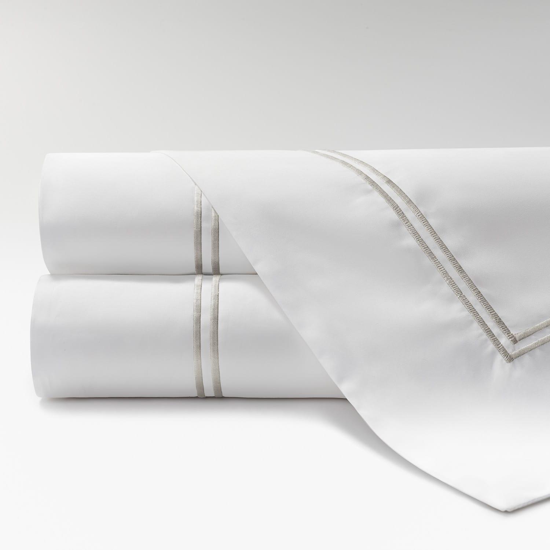 sábanas de Percal 600 2 festones perla