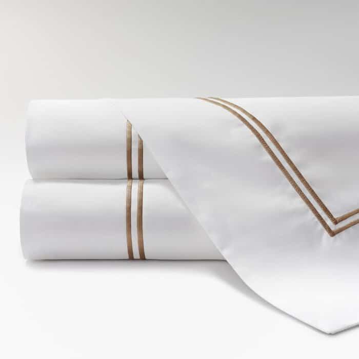 sábanas de Percal 600 2 festones topo