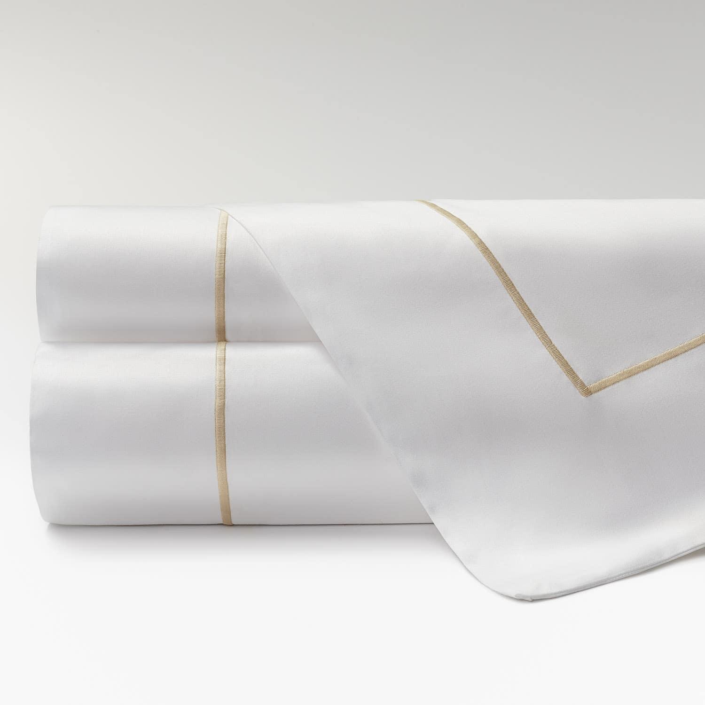 sábanas percal supima 600 hilos feston beige
