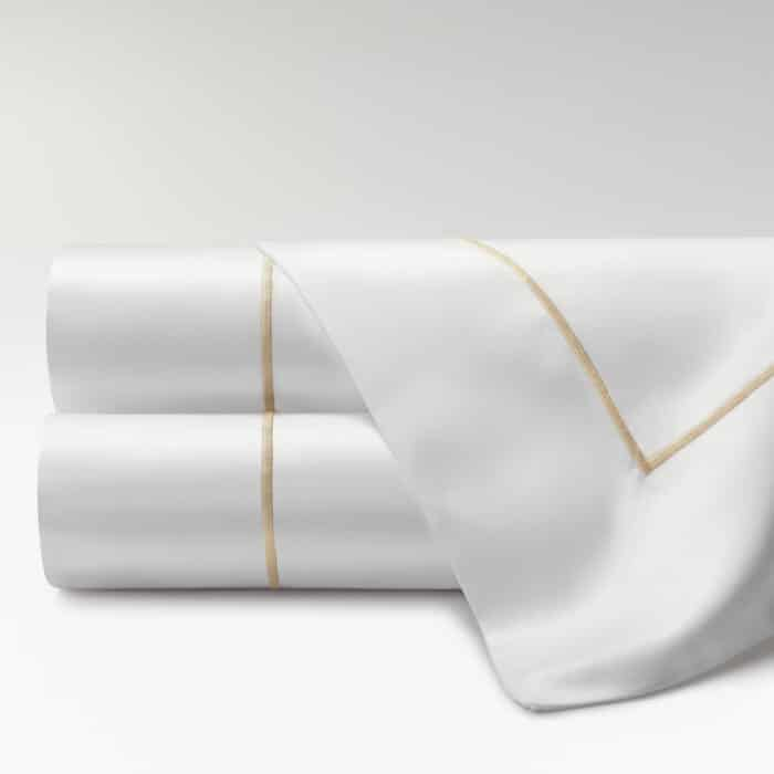 sábanas percal supima 700 hilos feston beige