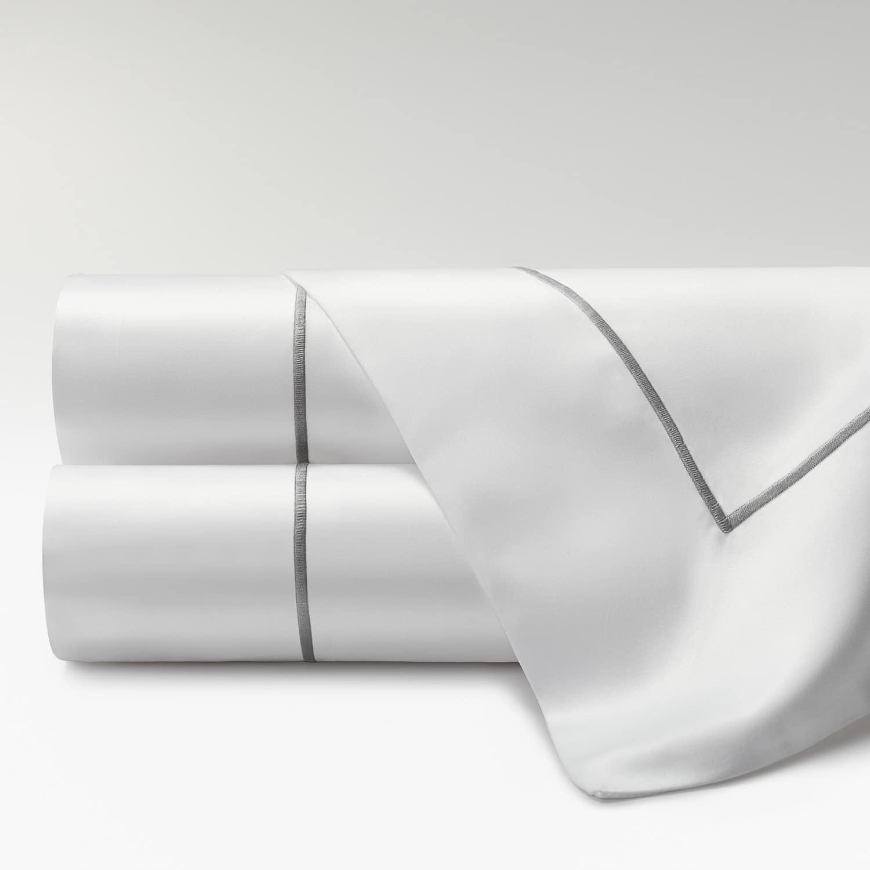 sábanas percal supima 700 hilos feston gris