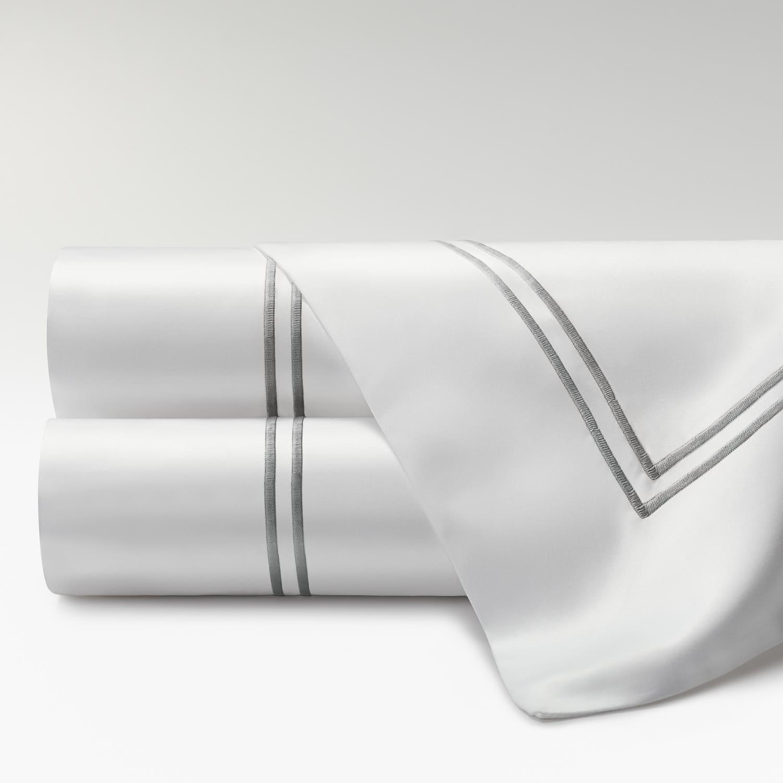 sábanas percal supima 700 hilos dos festones gris