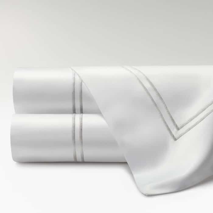 sábanas percal supima 700 hilos dos festones perla