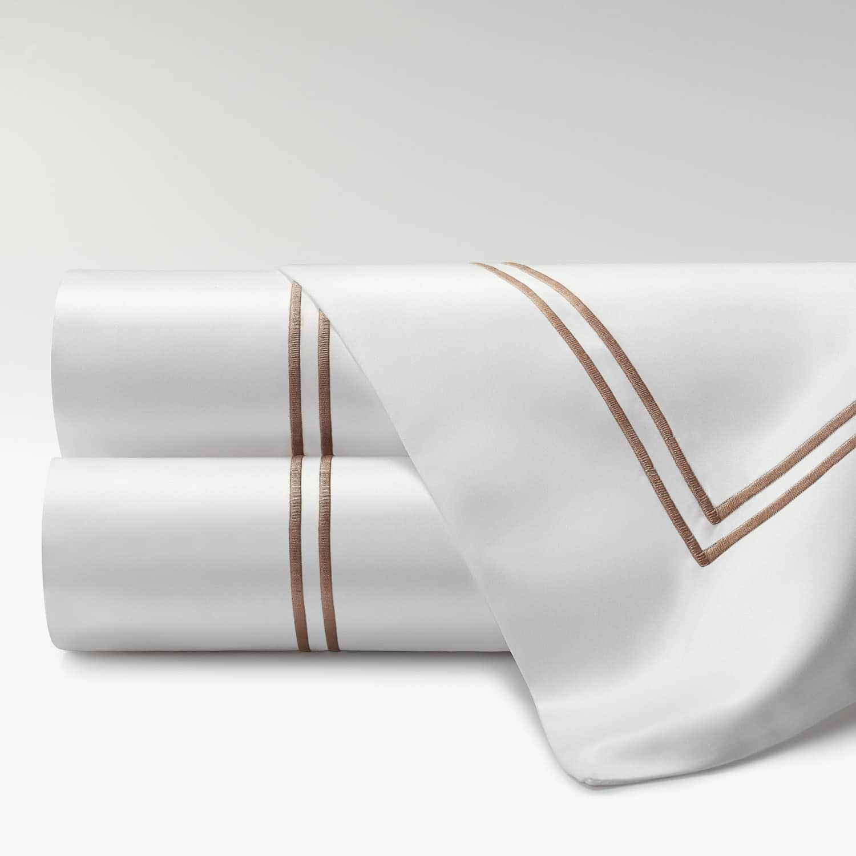 sábanas percal supima 700 hilos dos festones topo