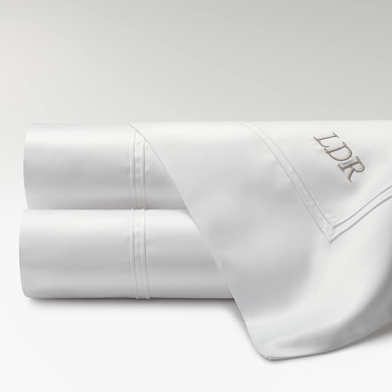 sábanas percal supima 700 hilos con iniciales