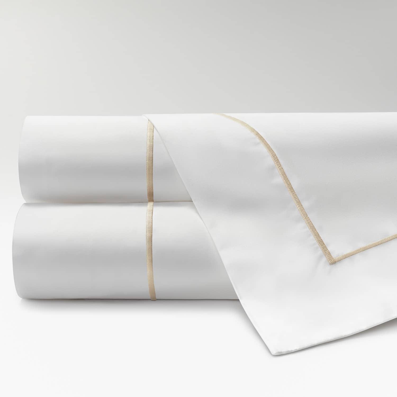 sábanas de Percal 300 feston beige