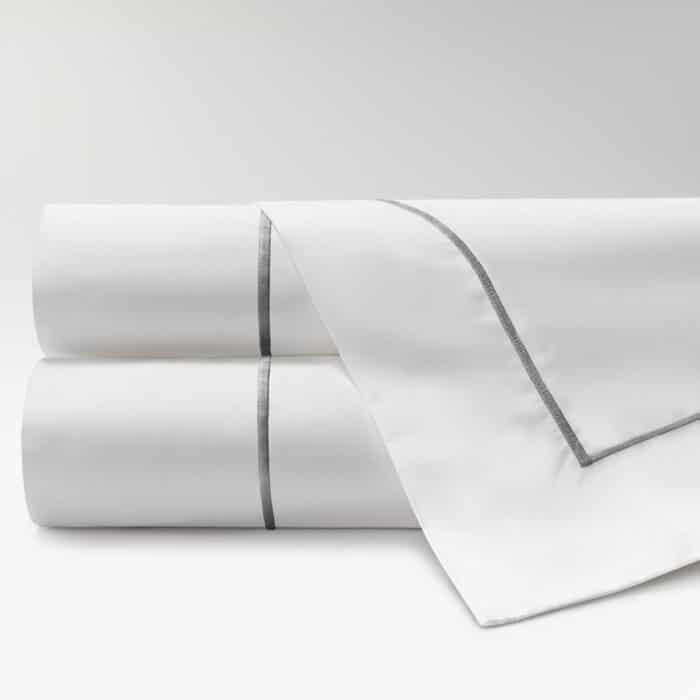 sábanas de Percal 300 feston gris