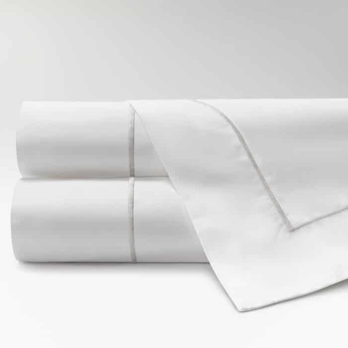 sábanas de Percal 300 feston perla