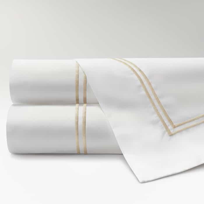 sábanas de Percal 300 2 festones beige