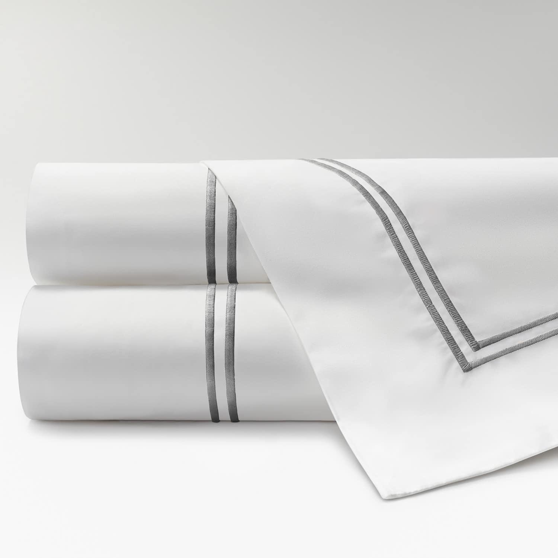 sábanas de Percal 300 2 festones gris