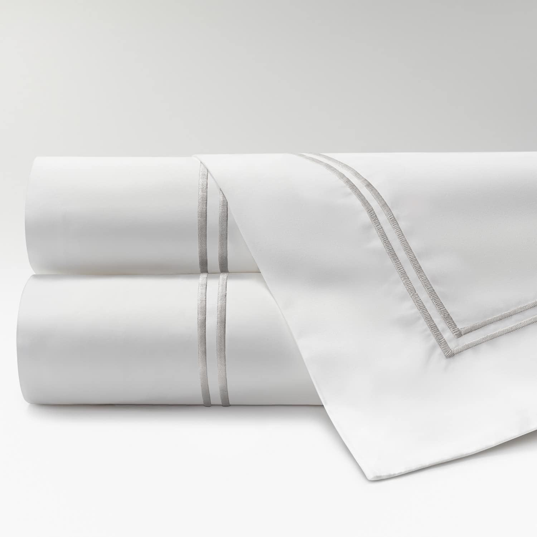 sábanas de Percal 300 2 festones perla