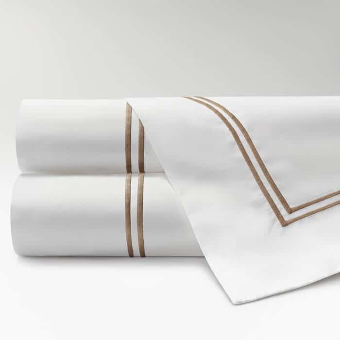 sábanas de Percal 300 2 festones topo